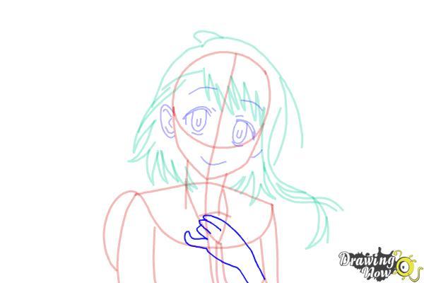 How to Draw Kosaki Onodera from Nisekoi: False Love - Step 13