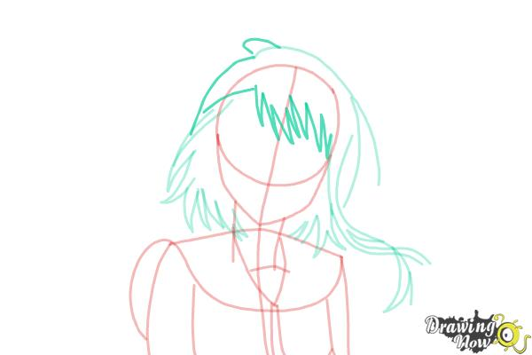 How to Draw Kosaki Onodera from Nisekoi: False Love - Step 9