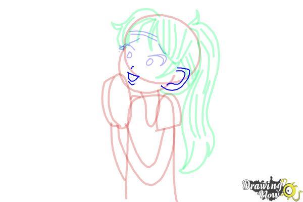 How to Draw Chloe Christina Garcia from Dork Diaries - Step 10