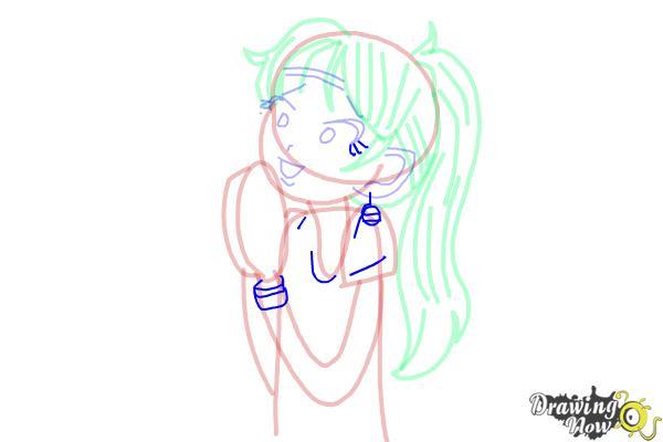How to Draw Chloe Christina Garcia from Dork Diaries - Step 11