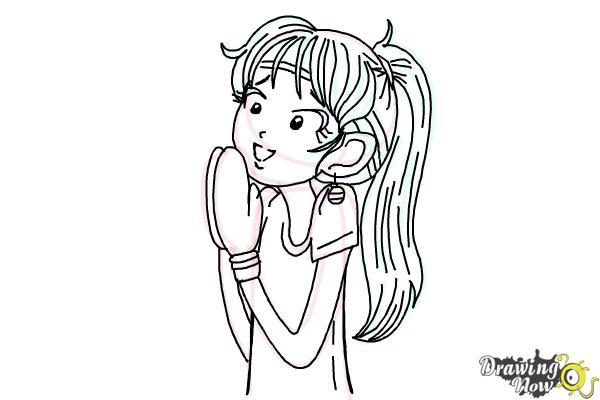 How to Draw Chloe Christina Garcia from Dork Diaries - Step 12