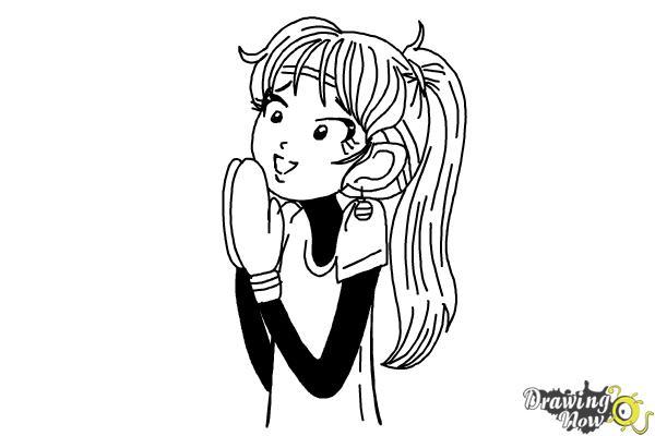 How to Draw Chloe Christina Garcia from Dork Diaries - Step 13