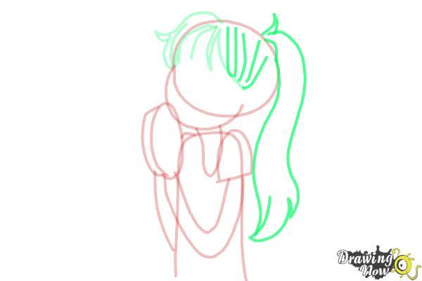 How to Draw Chloe Christina Garcia from Dork Diaries - Step 7