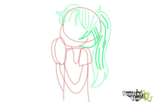 How to Draw Chloe Christina Garcia from Dork Diaries - Step 8