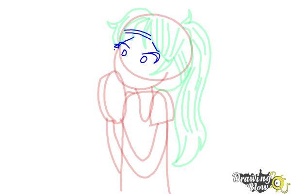 How to Draw Chloe Christina Garcia from Dork Diaries - Step 9