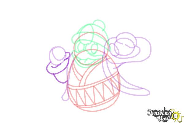 How to Draw King Dedede from Kirby - Step 12