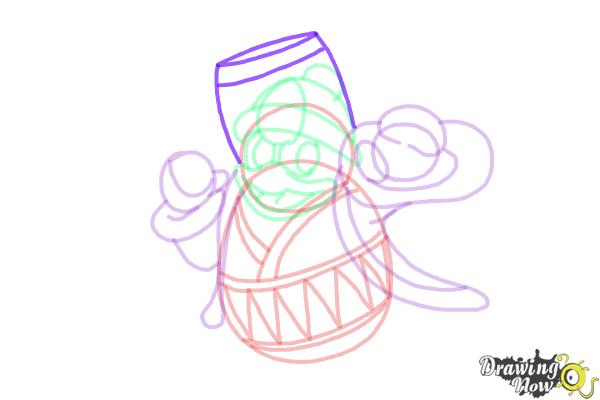 How to Draw King Dedede from Kirby - Step 13