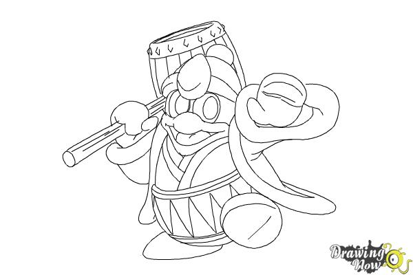 How to Draw King Dedede from Kirby - Step 15