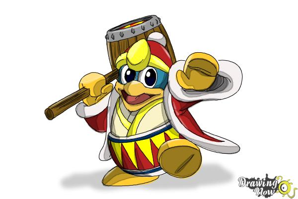 How to Draw King Dedede from Kirby - Step 16
