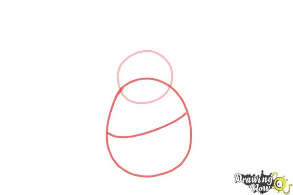 How to Draw King Dedede from Kirby - Step 2