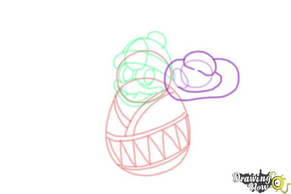 How to Draw King Dedede from Kirby - Step 9