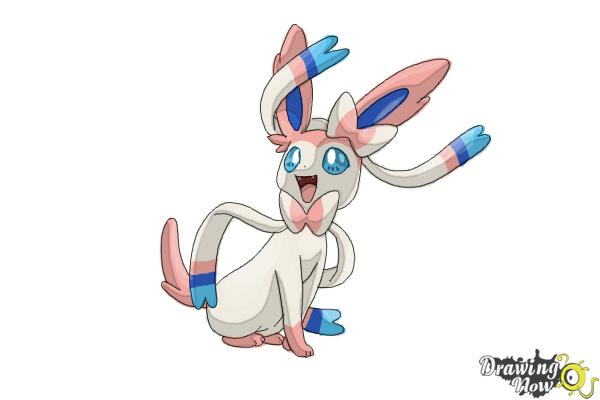 How to Draw Kawaii Sylveon - Step 10