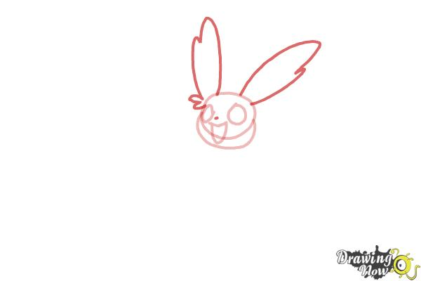 How to Draw Kawaii Sylveon - Step 3