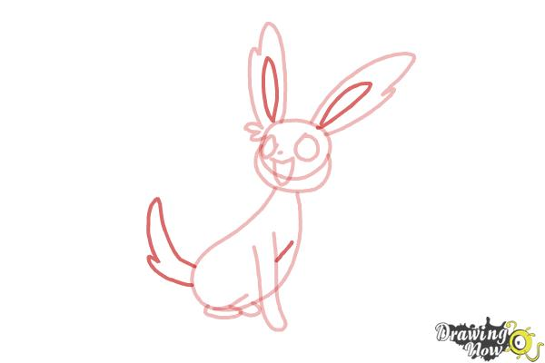 How to Draw Kawaii Sylveon - Step 6