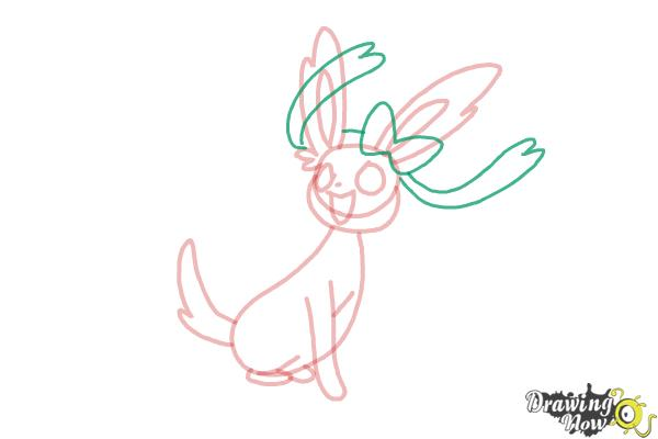 How to Draw Kawaii Sylveon - Step 7