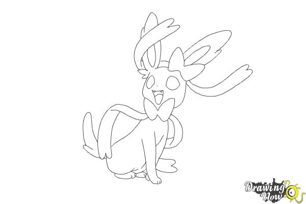 How to Draw Kawaii Sylveon - Step 9