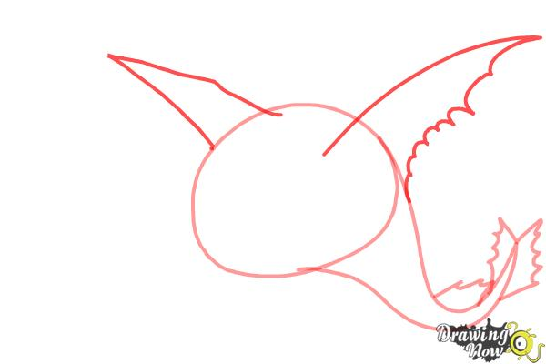How to draw Bewilderbeast from How to Train Your Dragon 2 - Step 3