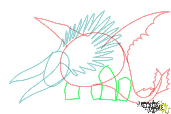 How to draw Bewilderbeast from How to Train Your Dragon 2 - Step 6