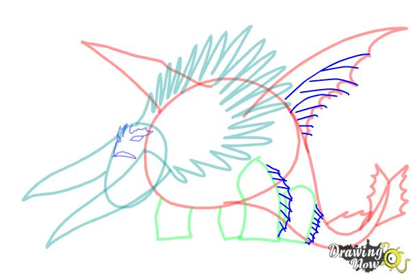 How to draw Bewilderbeast from How to Train Your Dragon 2 - Step 8