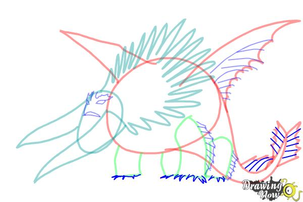 How to draw Bewilderbeast from How to Train Your Dragon 2 - Step 9