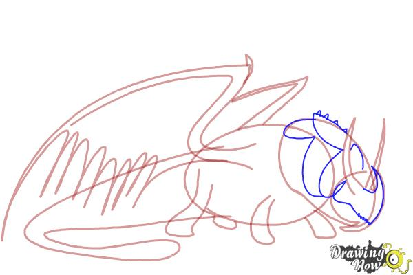 How to Draw Skullcrusher from How to Train Your Dragon 2 - Step 4