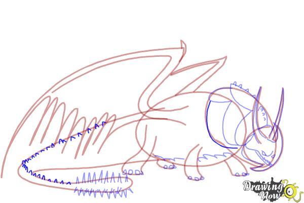 How to Draw Skullcrusher from How to Train Your Dragon 2 - Step 7