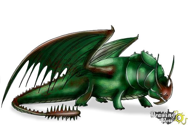 How to Draw Skullcrusher from How to Train Your Dragon 2 - Step 9