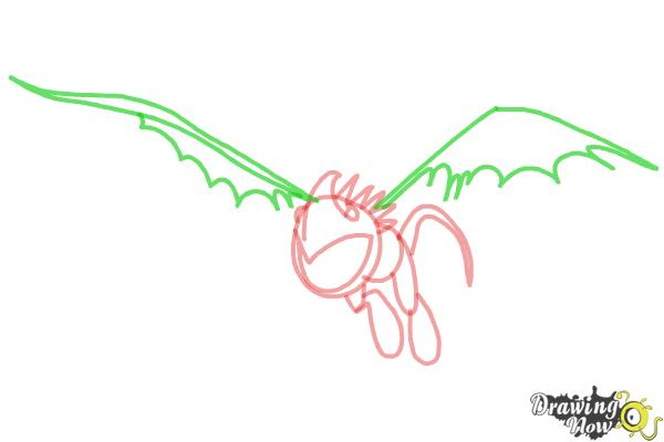 How to Draw Stormfly from How to Train Your Dragon 2 - Step 5