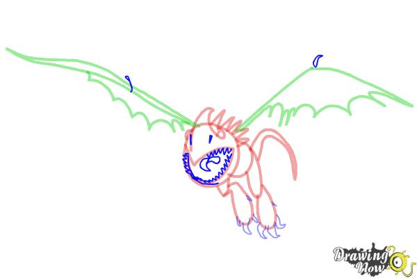 How to Draw Stormfly from How to Train Your Dragon 2 - Step 7