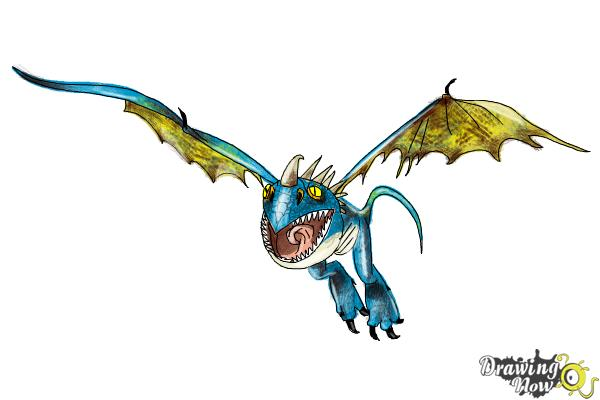How to Draw Stormfly from How to Train Your Dragon 2 - Step 9