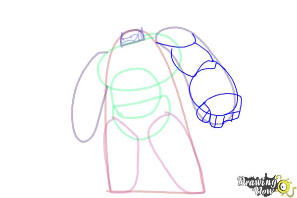 How to Draw Baymax from Big Hero 6 - Step 5
