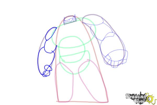 How to Draw Baymax from Big Hero 6 - Step 6
