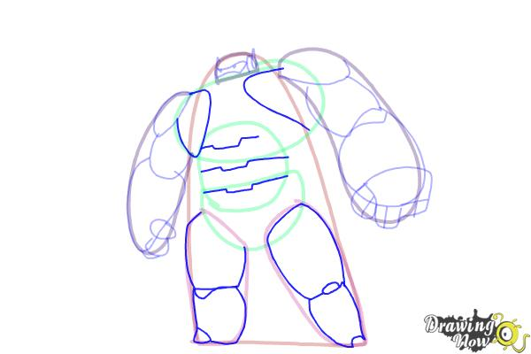 How to Draw Baymax from Big Hero 6 - Step 7