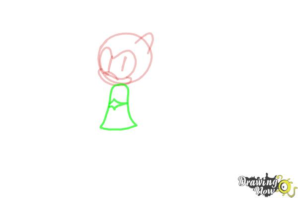 How to Draw Sonia The Hedgehog from Sonic - Step 5