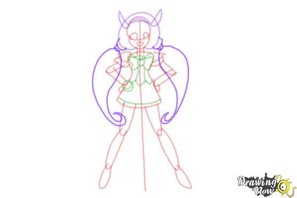 How to Draw Cure Happy, Hoshizora Miyuki from Smile Pretty Cure! - Step 10