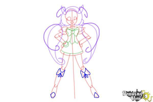How to Draw Cure Happy, Hoshizora Miyuki from Smile Pretty Cure! - Step 11