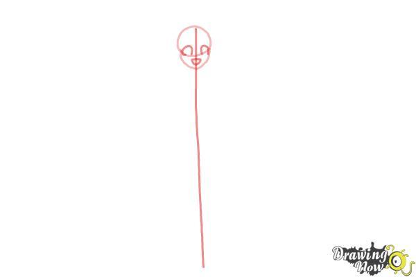 How to Draw Cure Happy, Hoshizora Miyuki from Smile Pretty Cure! - Step 2