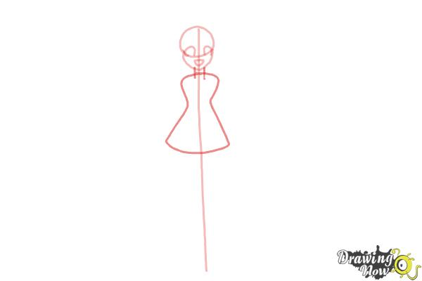 How to Draw Cure Happy, Hoshizora Miyuki from Smile Pretty Cure! - Step 3