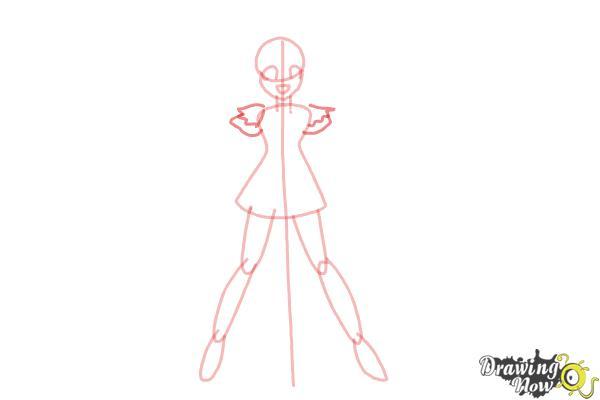How to Draw Cure Happy, Hoshizora Miyuki from Smile Pretty Cure! - Step 5
