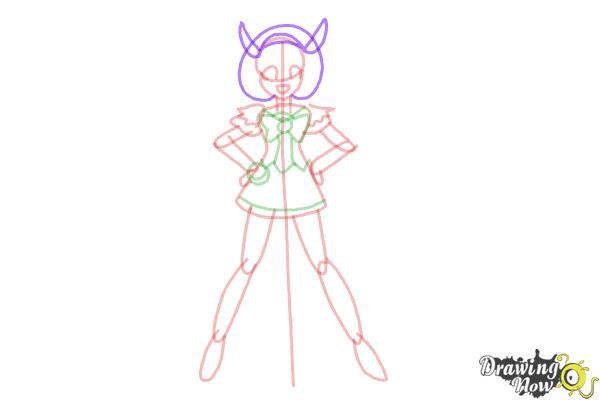 How to Draw Cure Happy, Hoshizora Miyuki from Smile Pretty Cure! - Step 9
