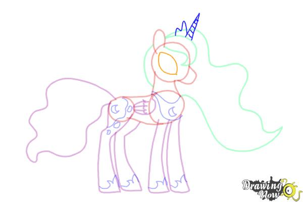 How to Draw Princess Luna from My Little Pony Friendship Is Magic - Step 10