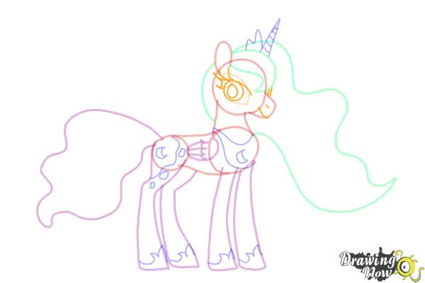 How to Draw Princess Luna from My Little Pony Friendship Is Magic - Step 11
