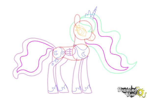 How to Draw Princess Luna from My Little Pony Friendship Is Magic - Step 12