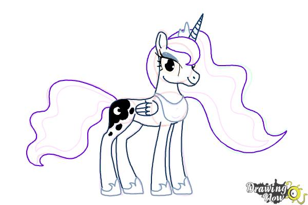 How to Draw Princess Luna from My Little Pony Friendship Is Magic - Step 13