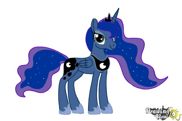 How to Draw Princess Luna from My Little Pony Friendship Is Magic - Step 14