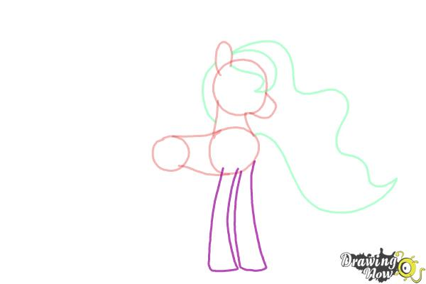 How to Draw Princess Luna from My Little Pony Friendship Is Magic - Step 6