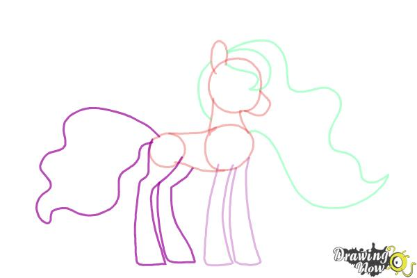 How to Draw Princess Luna from My Little Pony Friendship Is Magic - Step 7
