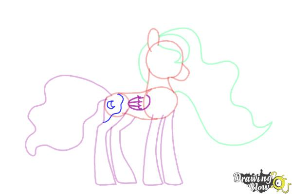 How to Draw Princess Luna from My Little Pony Friendship Is Magic - Step 8