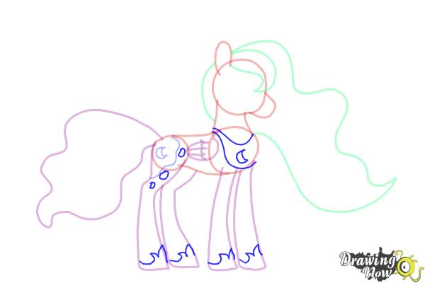 How to Draw Princess Luna from My Little Pony Friendship Is Magic - Step 9
