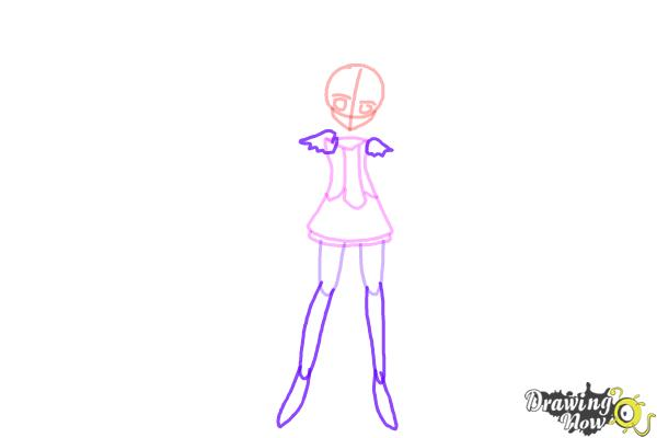 How to Draw Cure March, Midorikawa Nao from Smile Pretty Cure! - Step 5